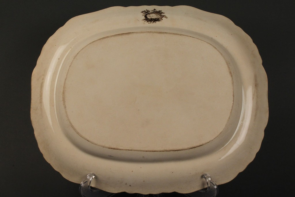 Lot 613: Lot of 2 Transferware Platters