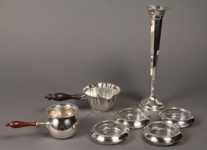 Lot 640: Lot of 7 Sterling Table Items