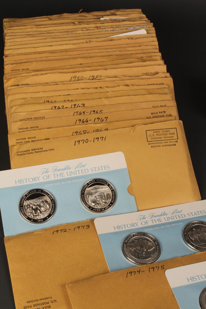 Lot 644: Franklin Mint Am Silver Dollars & History of US sterling proofs
