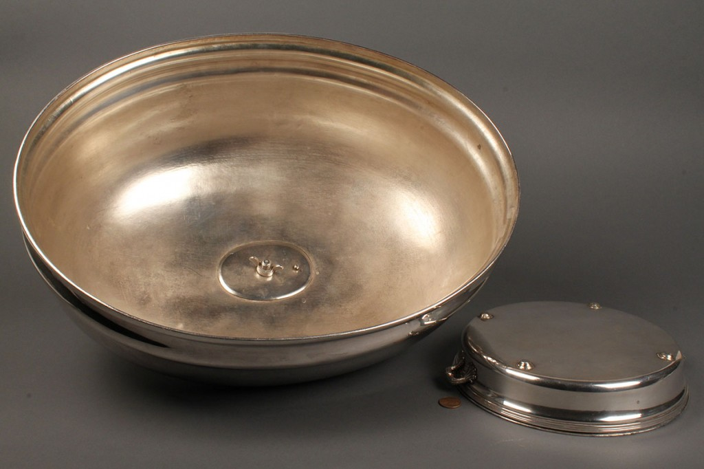 Lot 651:  Lot of 2 Old Sheffield Items, Domed Cover & Dish Stand