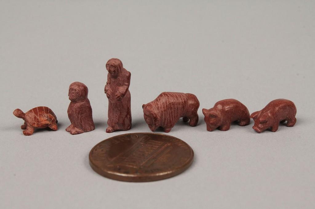 Lot 657: Lot of 6 Miniature Folk Carvings