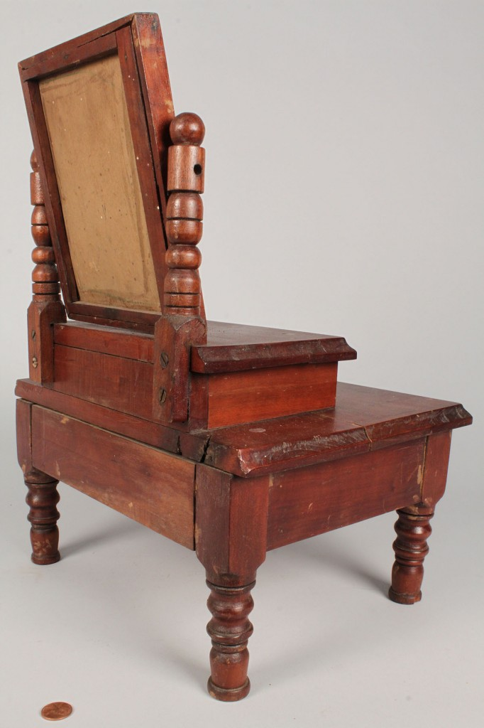 Lot 658: Miniature cherry dressing table