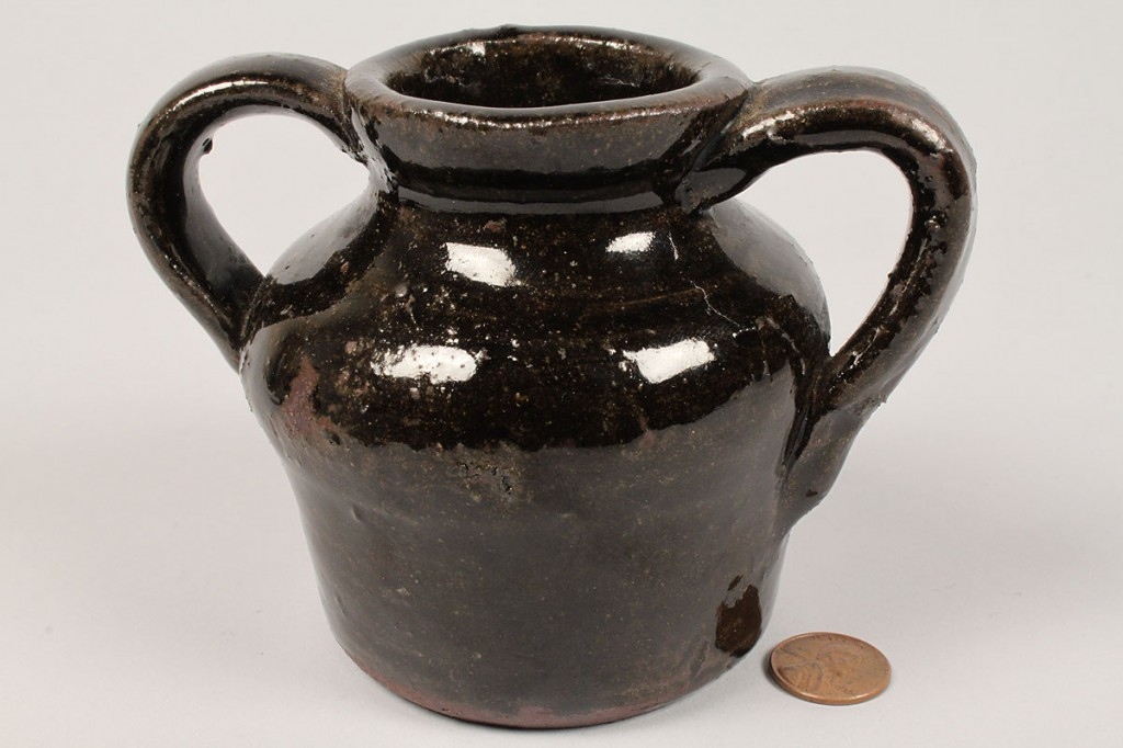 Lot 666: Lot of 3 Georgia Folk Pottery Items, Meaders family