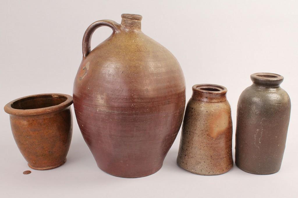 Lot 670: Lot of 4  TN Stoneware Pottery Items