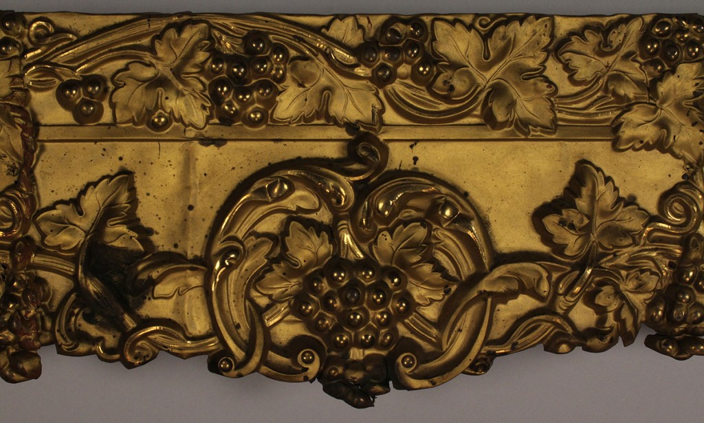 Lot 673: Pair of Victorian Metal Cornices