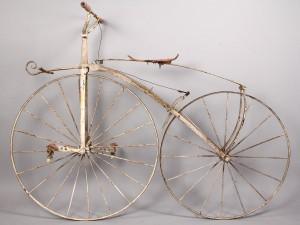 Lot 675: Early Boneshaker Bicycle, A. Dubois