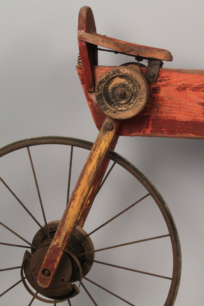 Lot 677: Early Mergomobile Wooden Bicycle