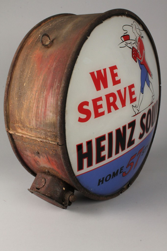 Lot 682: Heinz Soups Advertising Globe, early 20th century