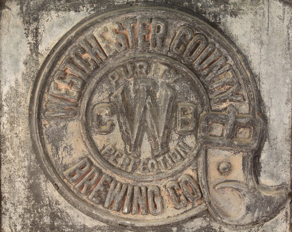 Lot 683: Westchester County Brewing Co. Sign, circa 1910