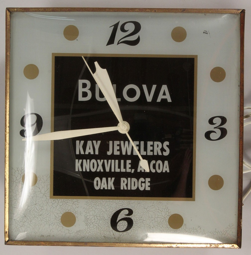 Lot 684: Knox News Sentinel & Bullova Advertising Signs