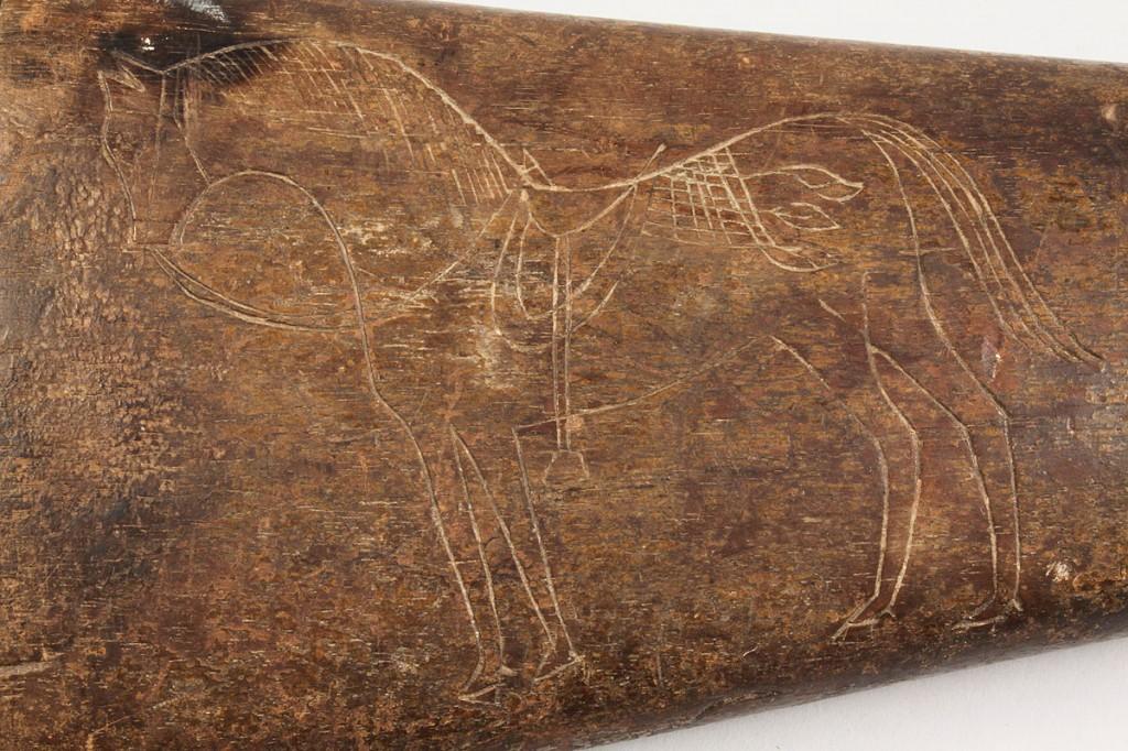 Lot 68: Barnett Pattern 1856 Enfield Carbine, horse carving