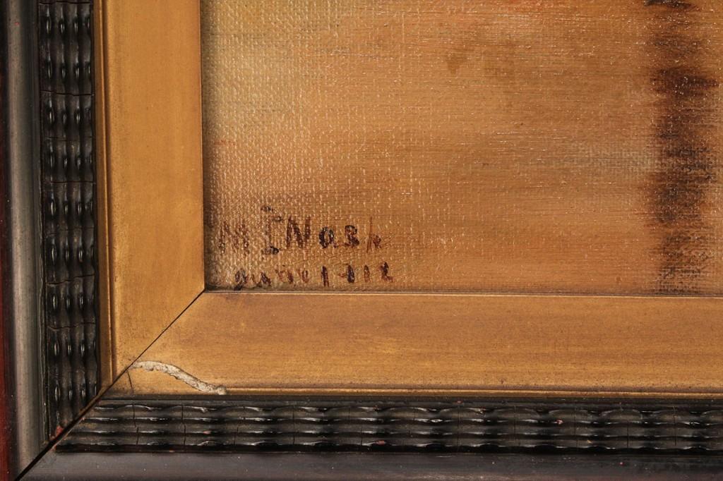 Lot 692: M. I. Nash oil on canvas, landscape