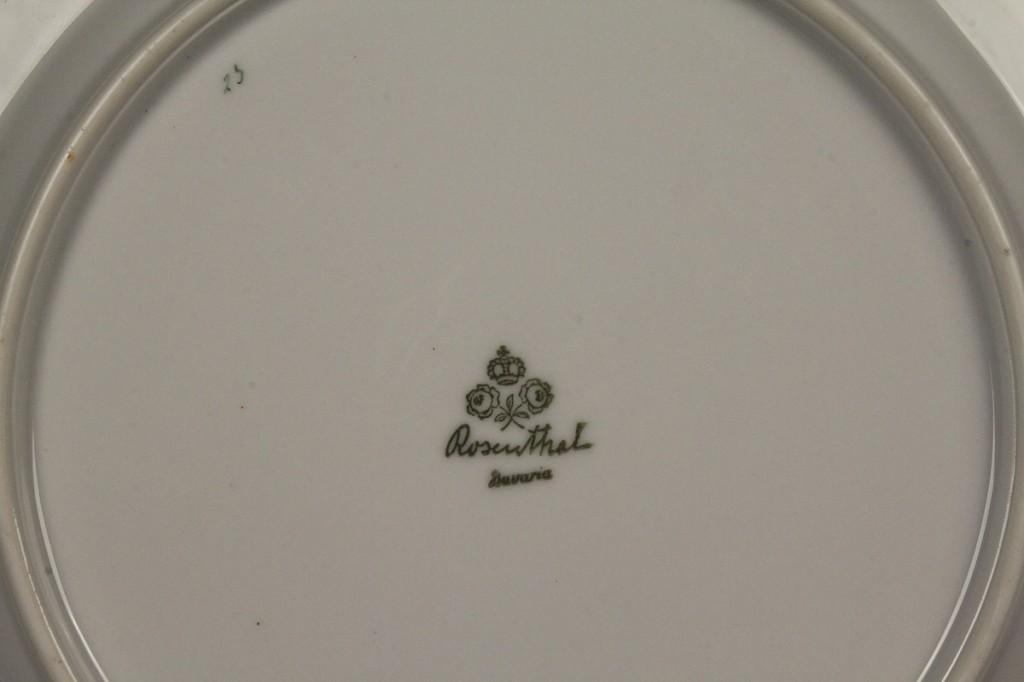 Lot 699: Assembled Lot of Bavarian dinnerware, 2 patterns