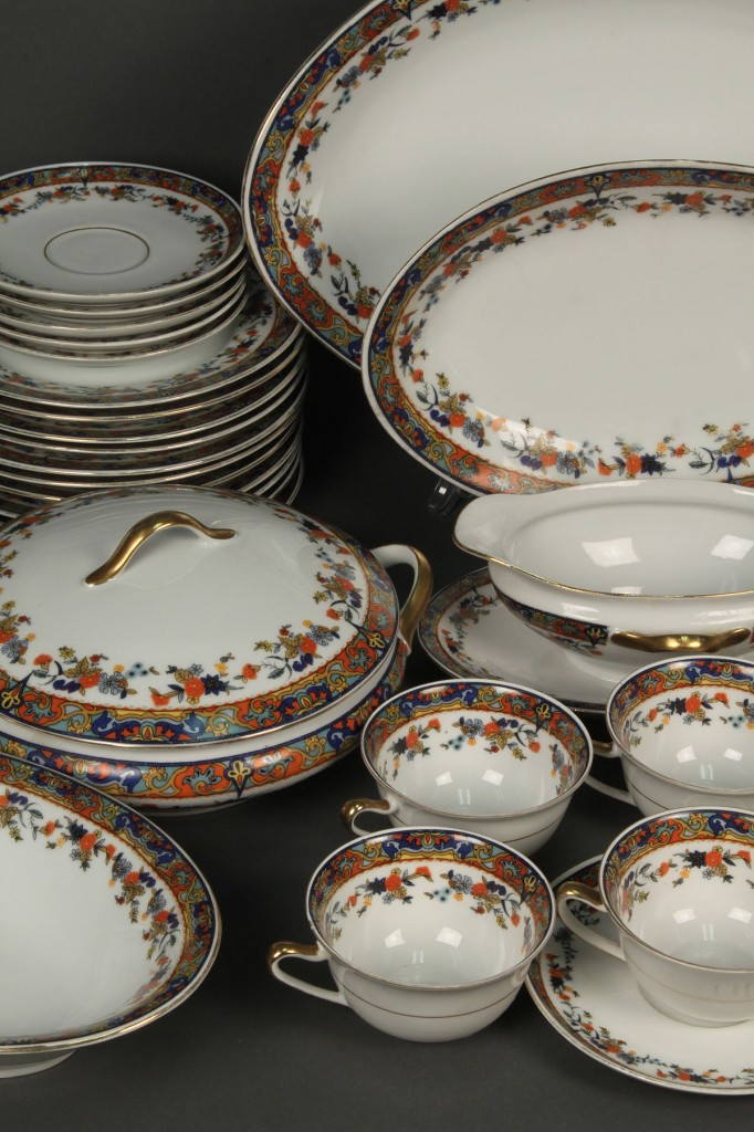 "Lot 700: Royal Schwarzberg Porcelain ""Cobwebs"" dinnerware"