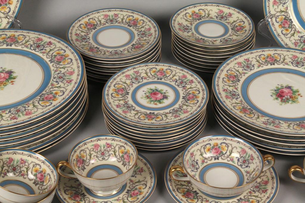Lot 701: Charles Ahrenfeldt Limoges Partial Dinner Service, 45 pieces