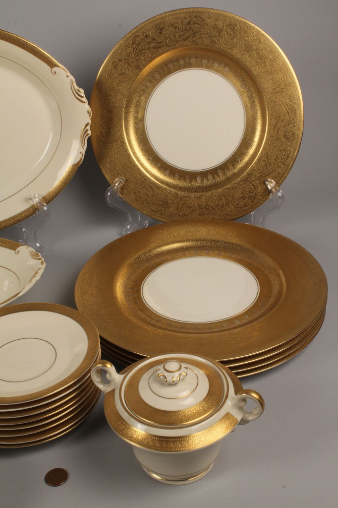 Lot 705: Lot of Porcelain Dinnerware, Various Makers