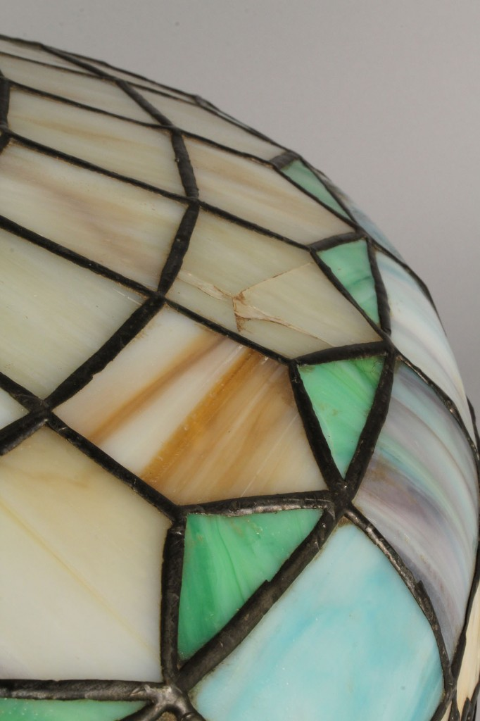 Lot 712: Floral Leaded Glass Lamp Shade
