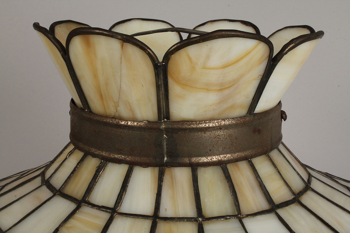 Lot 712 floral leaded glass lamp shade aloadofball Gallery