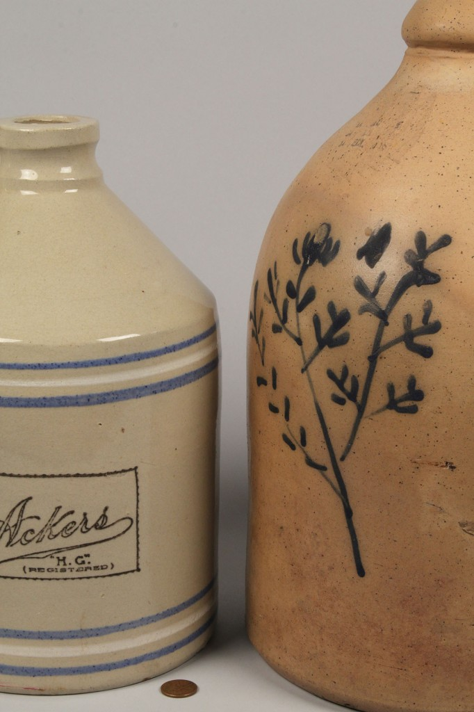 Lot 714: Lot of 2 New England Pottery Items