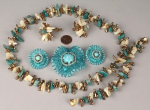 Lot 717: Four Miriam Haskell Jewelry items