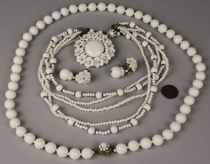 Lot 719: Four Items of Miriam Haskell Jewelry