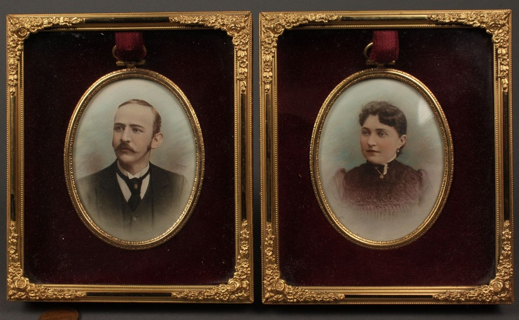 Lot 71: Pair of Tennessee Fort family portraits by Calvert