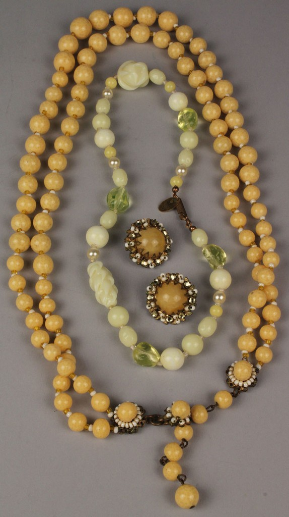 Lot 720: Three Items of Miriam Haskell Jewelry