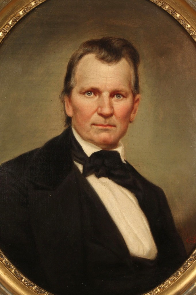 Lot 72: Portrait of CSA Gen. Daniel Smith Donelson by George Dury