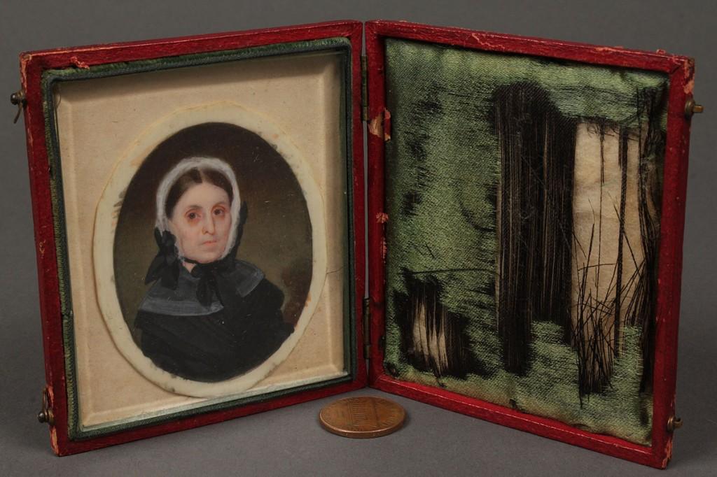Lot 73: John Dodge miniature portrait, TN First Lady