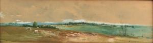 Lot 74:  Lloyd Branson watercolor, panoramic landscape