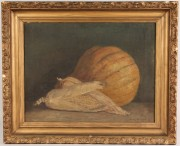 Lot 78: Helen Hudson Still Life of Corn and Pumpkin