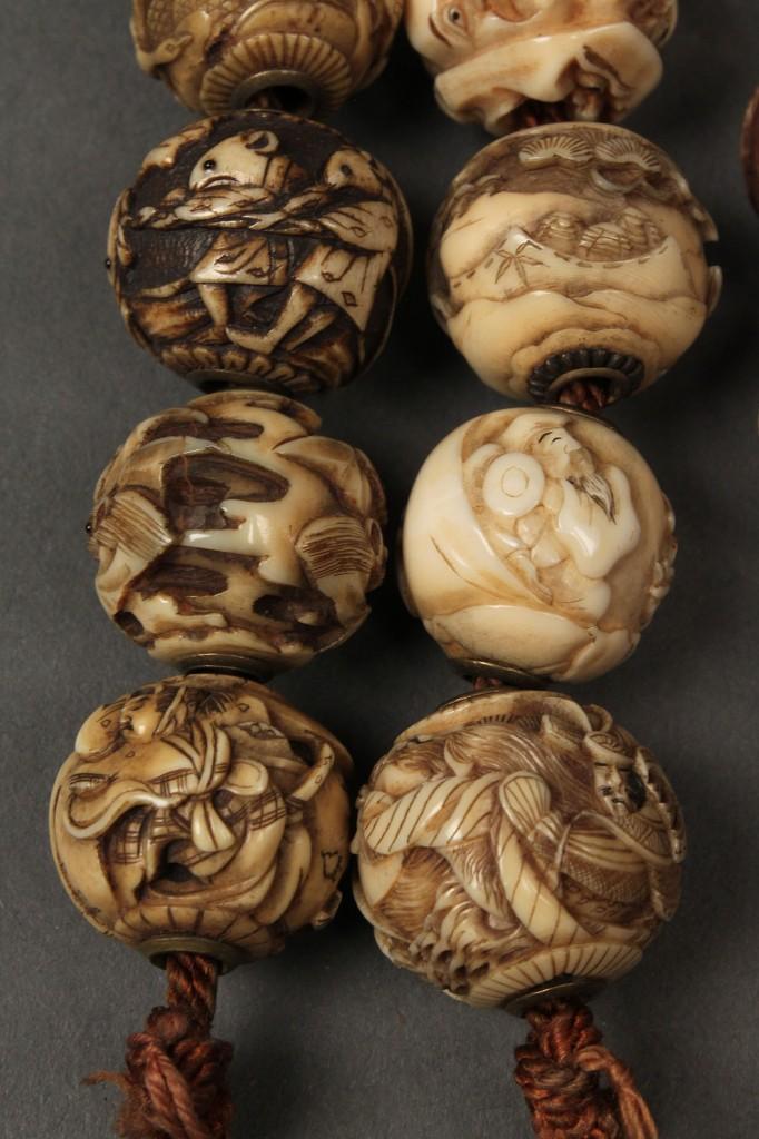 Lot 7: 26 Ojime beads inc. shibayama, ivory, cinnabar