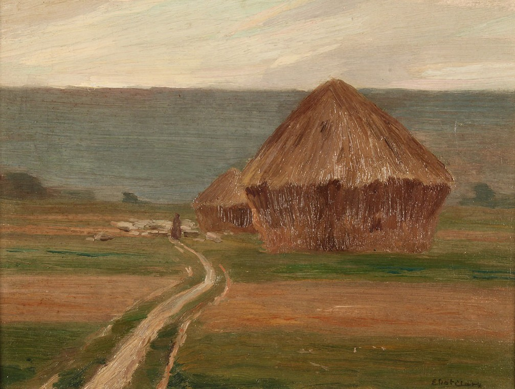 Lot 82: Eliot Candee Clark Landscape, Haystacks at Giverny