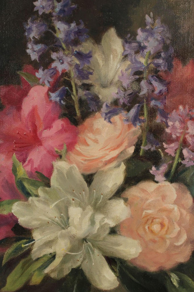 Lot 83: George Hoffman, oil on canvas floral still life