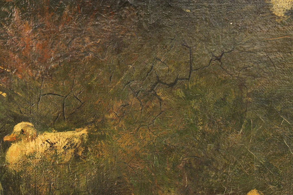 Lot 85: Alexander Van Laer, oil on canvas, Ducks in Stream