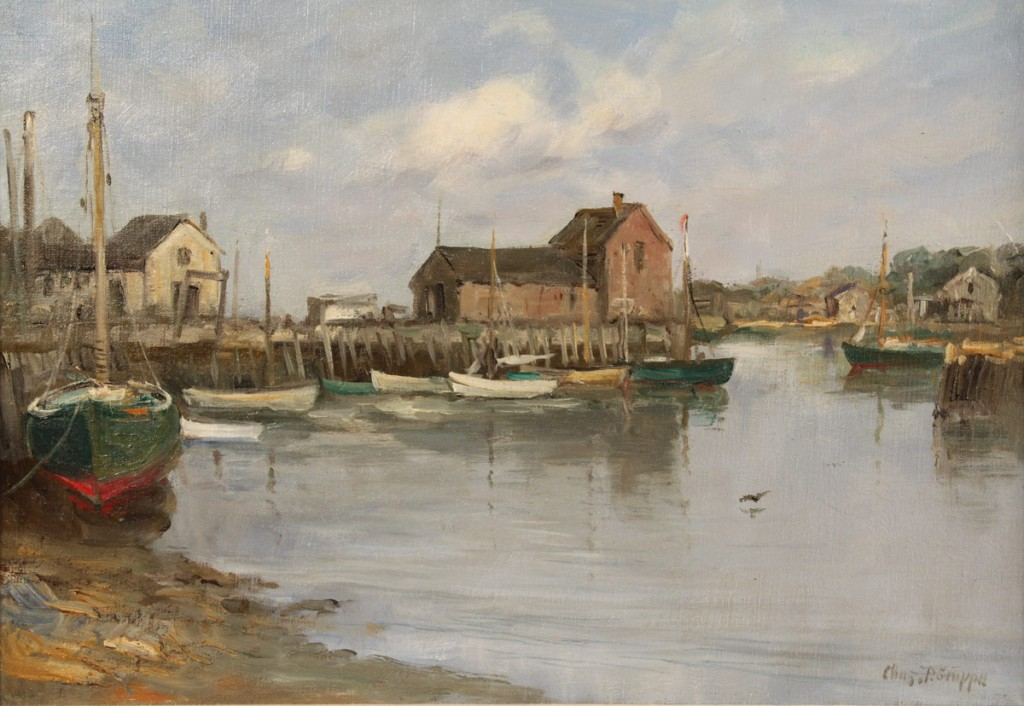 Lot 87: Charles P. Gruppe Oil on Canvas