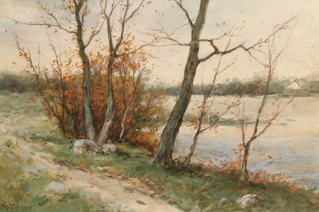 Lot 88: Charles P. Gruppe Watercolor landscape