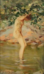 Lot 89: Lucien Henri Grandgerard Female Nude