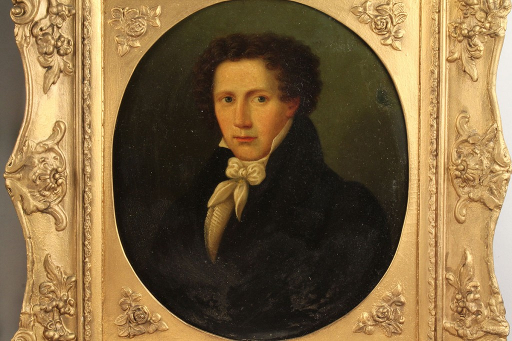Lot 91: Continental School, Pr. of Portraits, oil on copper