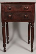 Lot 92: Tennessee Cherry 2 Drawer Table, J. N. Lonas history