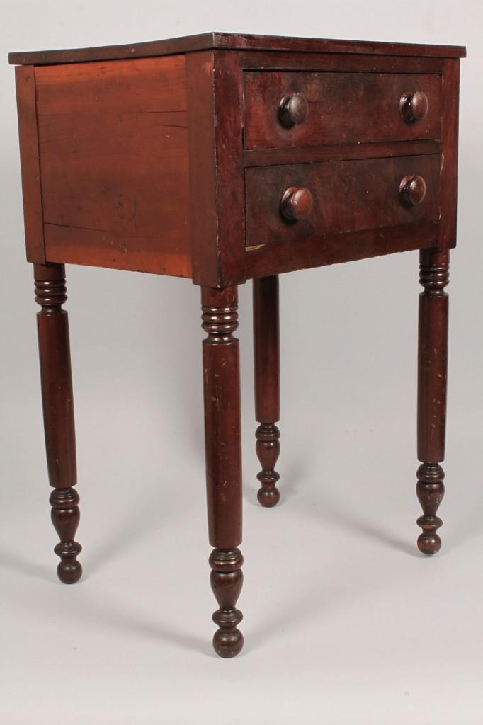 Lot 92: Tennessee Cherry 2 Drawer Table, J. N. Lonas history