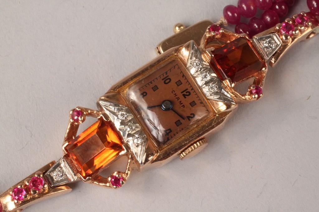 Lot 106: Champ jeweled wristwatch