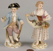 119: Companion Pair of Meissen Figurines