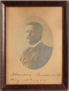 Lot 11: Theodore Roosevelt signed & dated photograph