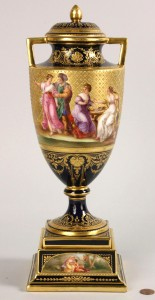 Lot 120: Royal Vienna Urn, signed Rosner