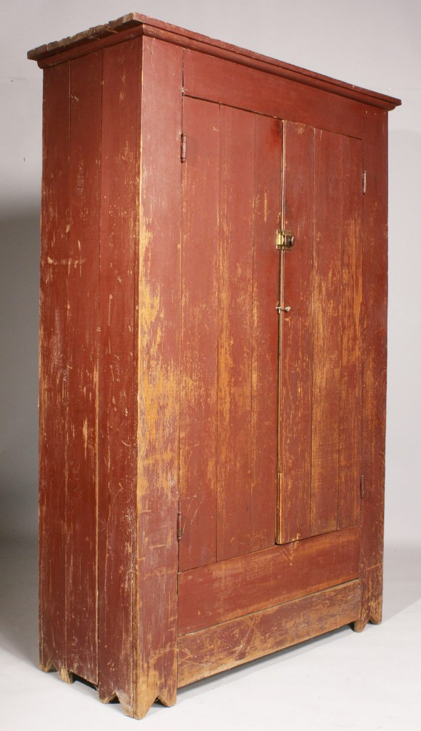 Lot 127: Georgia painted Cupboard, 19th century