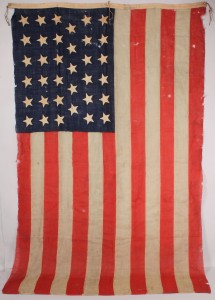 Lot 12: 35-Star American Flag, dated 1866