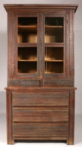 Lot 130: Tennessee Folk Style Stepback Cupboard