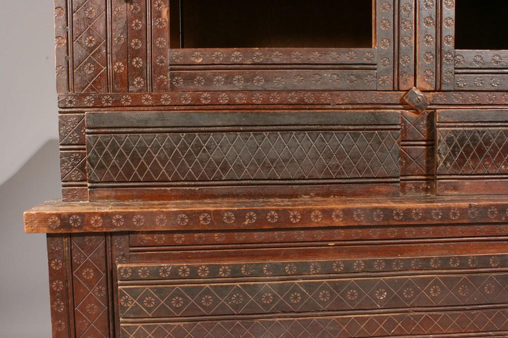 Lot 130: Tennessee Folk Style Stepback Cupboard