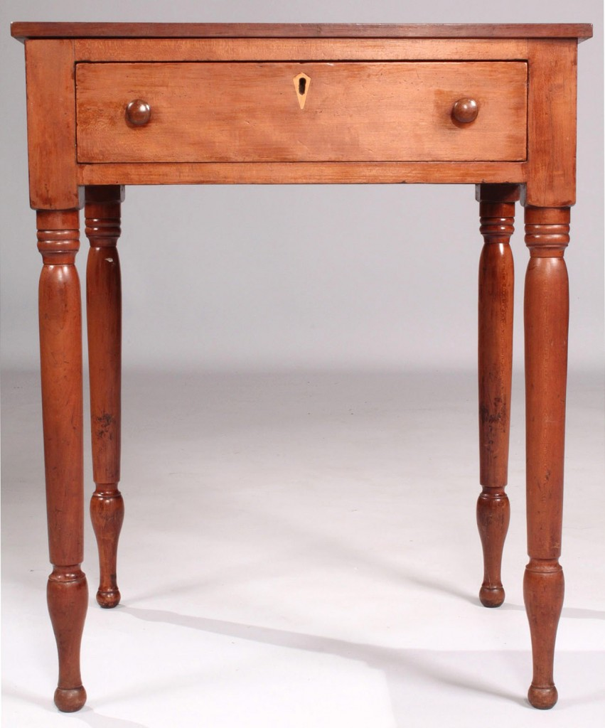 Lot 133: East TN Cherry One Drawer Stand